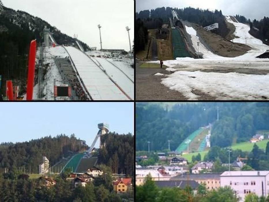 Skocznie TCS : Oberstdorf, Garmisch-Partenkirchen, Innsbruck, Bischofshofen