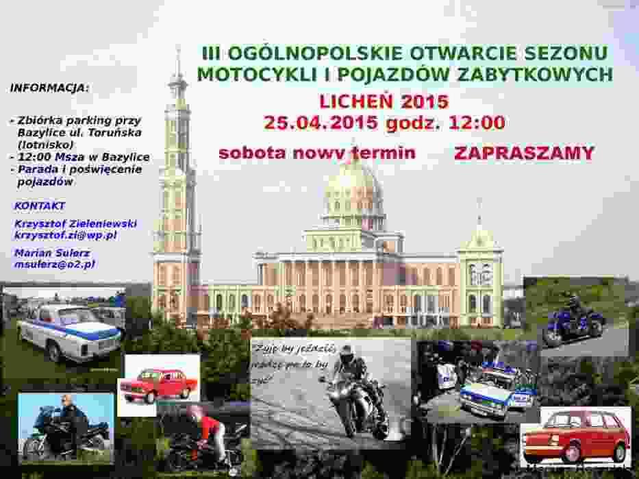 Plakat III Ogólnopolskiego Otwarcia Sezonu Motocykli i Pojazdów Zabytkowych