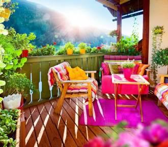 Drewno na balkonie i tarasie