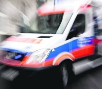 Kobieta straciła nogę po zderzeniu z autem w Jemielnicy