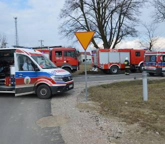 WYPADEK!!! Zablokowana droga krajowa 72 w miejscowości Głuchów. Kilometrowe korki