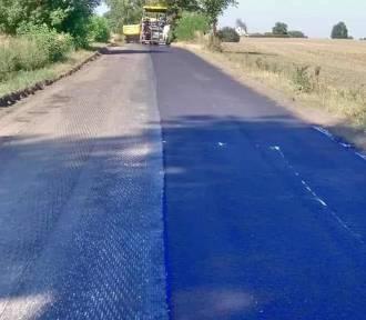 Trwa remont drogi pod Wągrowcem