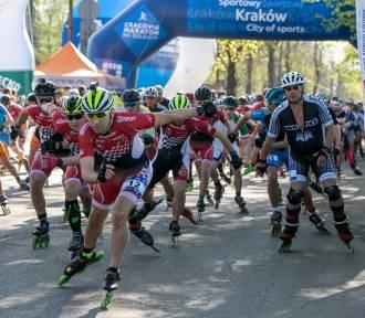 Cracovia Maraton 2018 na rolkach. Zawodnicy rywalizowali na Błoniach [ZDJĘCIA]