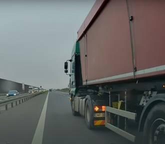Wymuszanie pierwszeństwa na drodze S8. TIR zepchnął auto osobowe pod Oleśnicą [FILM]