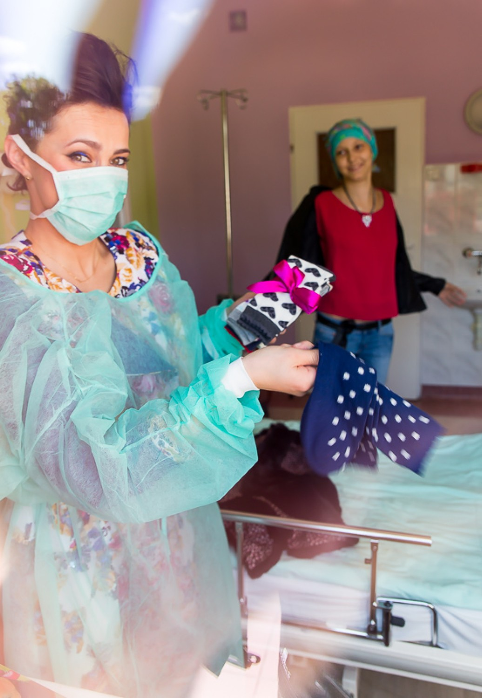 Kasia - najmodniejsza pacjentka kliniki onkologii w UDSK