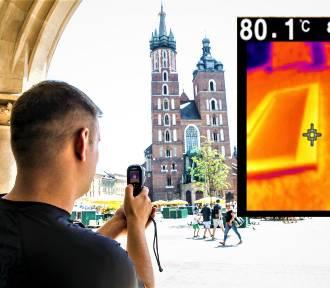 Oto najgorętsze miejsce w Krakowie. Temperatura? 80 stopni!