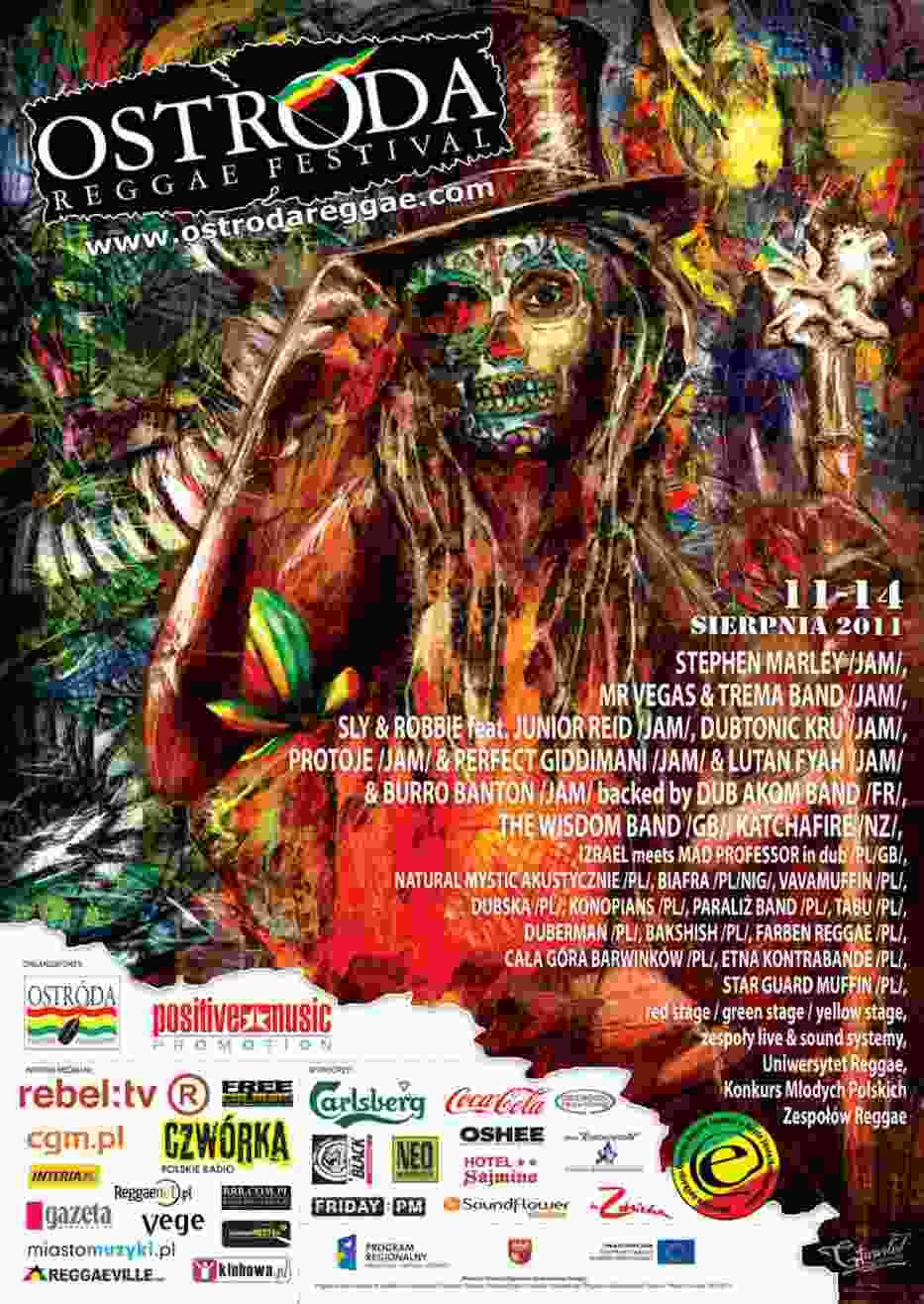 Plakat promujący Ostróda Reggae Festival 2011