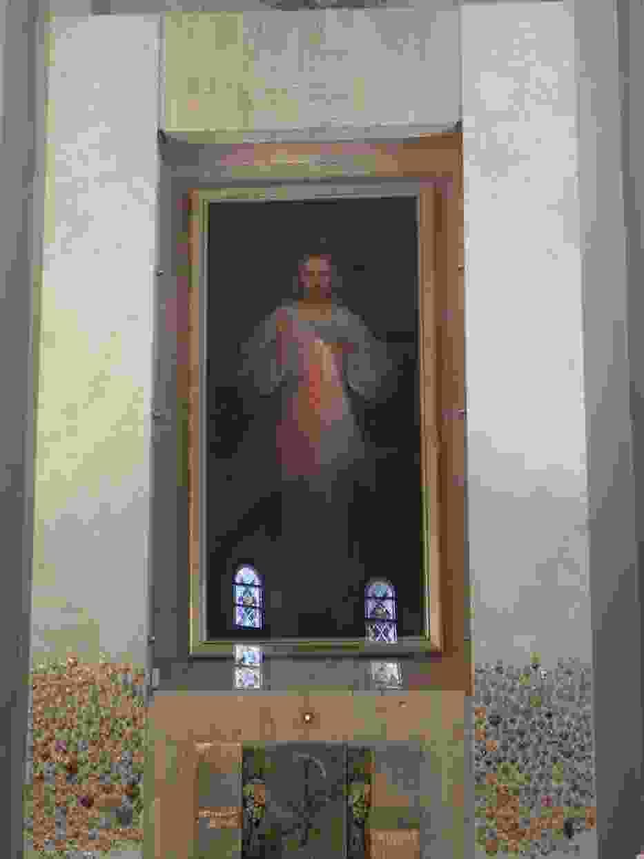 Obraz Jezu ufam Tobie w sanktuarium w Wilnie