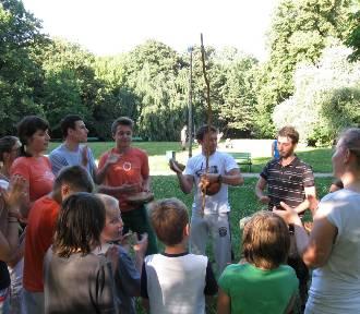 Capoeira w Parku Śniadaniowym w Łodzi