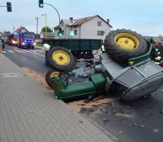 Wypadek z udziałem ciągnika w Klukowie [AKTUALIZACJA]