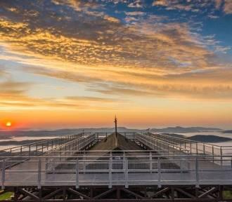 Magiczne wschody i zachody słońca z Jaworzyny Krynickiej, hitem platforma widokowa