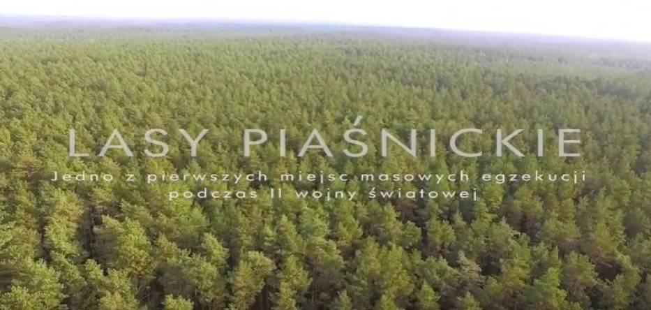 Lasy Piaśnickie z lotu ptaka