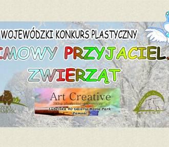 ZIMOWY PRZYJACIEL ZWIERZĄT. Konkurs plastyczny organizowany przez ZOO w Zamościu.