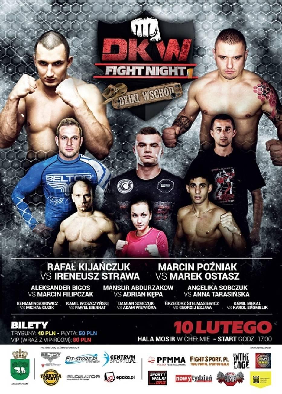 Chełm. Wyjątkowe wydarzenie sportowe DKW Fight Night 1 Dziki Wschód