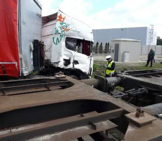 Wypadek na przejeździe w Janiszewicach [zdjęcia]