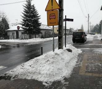 Centrum Koluszek pod śniegiem