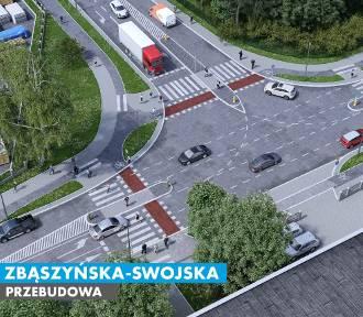 Przebudowa ulic Zbąszyńskiej i Swojskiej w Łodzi [WIZUALIZACJE]
