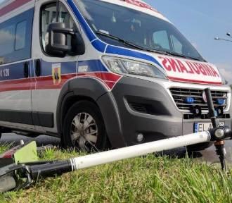 Potrącenie na Andrzeja Struga w Wieluniu. 12-latek trafił do szpitala