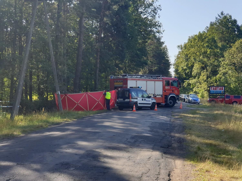 Tragiczny wypadek w miejscowości Miradz pod Strzelnem w powiecie mogileńskim