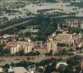Powódź 1997 na Opolszczyźnie z lotu ptaka