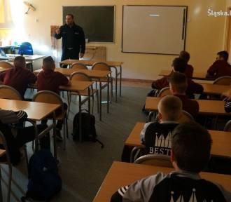 Policjanci mówili uczniom z Żor o bezpieczeństwie w internecie