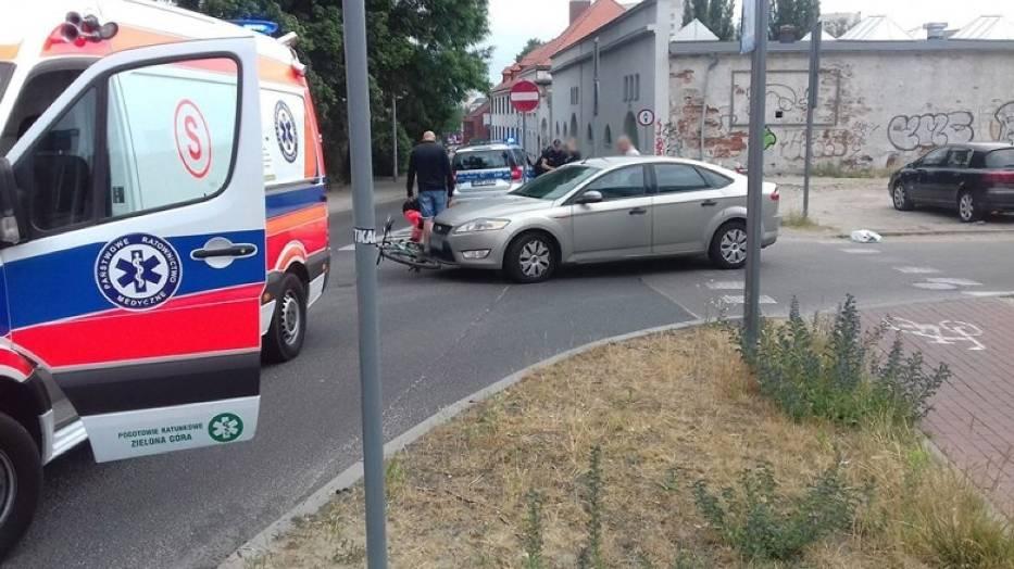 Do potrącenia rowerzysty doszło w środę, 13 czerwca, na ul