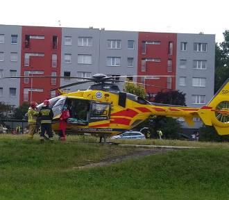 Wypadek w Bytomiu. 12-latek wpadł pod samochód, lądował śmigłowiec LPR
