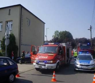 Ewakuacja szkoły w Piekarach Śląskich
