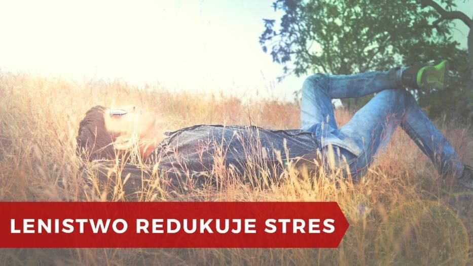 Jeśli pozwolisz sobie dosłownie leniuchować – nic nie robić i nie myśleć o niczym konkretnym, pozwalając na swobodny przepływ myśli, zredukujesz stres, a twój organizm ci za to podziękuje