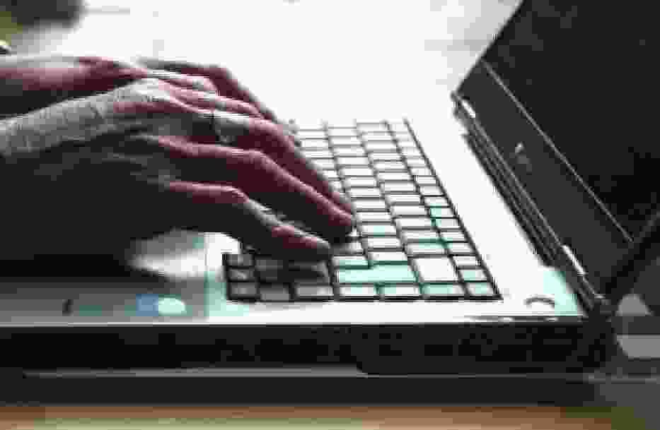 niewidomy - praca przy komputerze