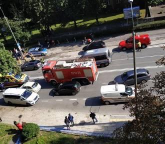 Wypadek w centrum Radomia. Jedna osoba została ranna