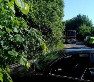 Wypadek w Lisewie: kierująca cudem wyszła z dachowania auta bez poważnych obrażeń