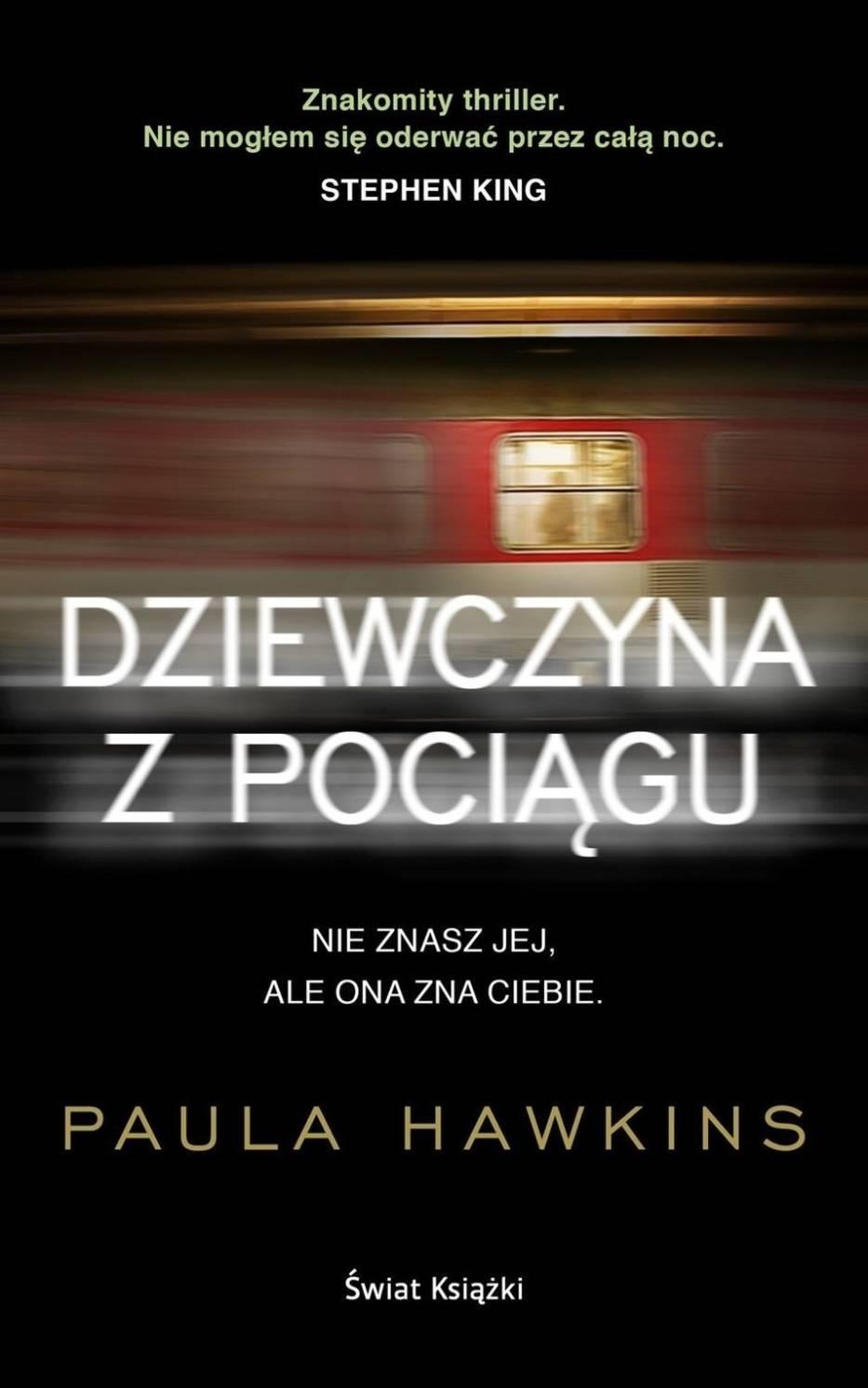 Okładka polskiego wydania książki Pauli Hawkins