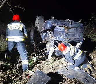 Niebezpieczny wypadek na trasie Opalenica - Lwówek [ZDJĘCIA]