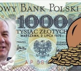 Banknot 1000 zł lekiem na kłopoty Polski MEMY. Prezes NBP zapowiada nowy nominał