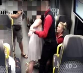 Kobieta pobiła konduktorów. Dramatyczne sceny w pociągu Kolei Dolnośląskich (ZOBACZ FILM I ZDJĘCIA)