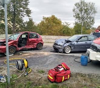 Wypadek w Izabelowie koło Zduńskiej Woli [zdjęcia]
