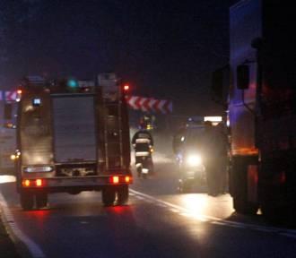 Śmiertelny wypadek na A4. Zderzyły się cztery ciężarówki
