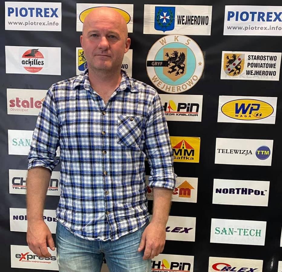 Grzegorz Lisewski - nowy trener WKS Gryfa Wejherowo