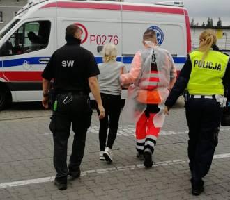 Funkcjonariusze pospieszyli z pomocą rannej rowerzystce