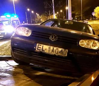 Pijany kierowca spowodował wypadek na Dąbrowskiego w Łodzi [ZDJĘCIA]
