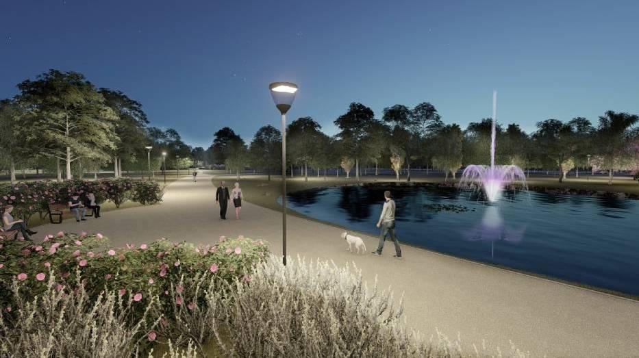 Wizualizacja przyszłego parku