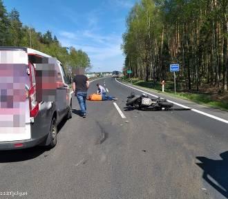 Kobiór: Wypadek motocyklisty na DK1. Lądował LPR.
