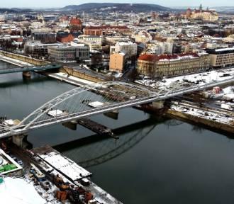 Budują mosty nad Wisłą. Od poniedziałku utrudnienia na ul. Podgórskiej
