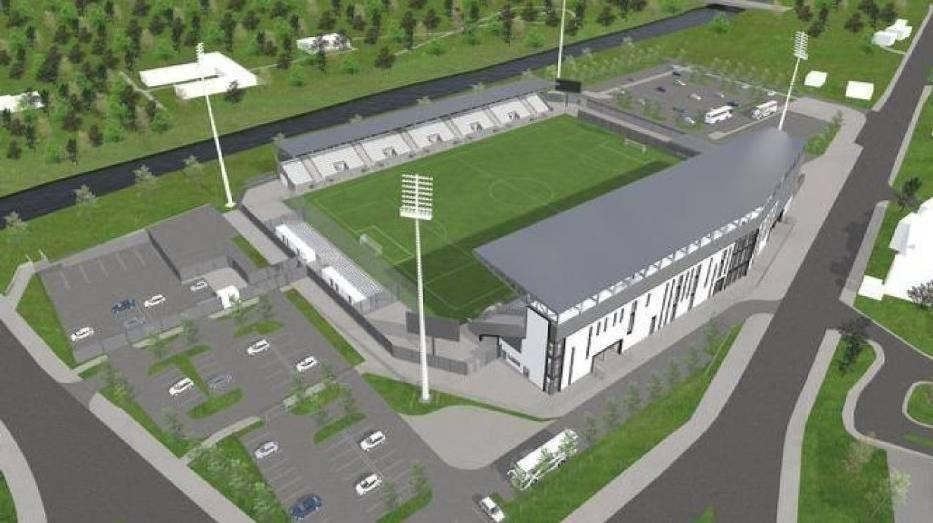 Wizualizacja stadionu na 4500 miejsc
