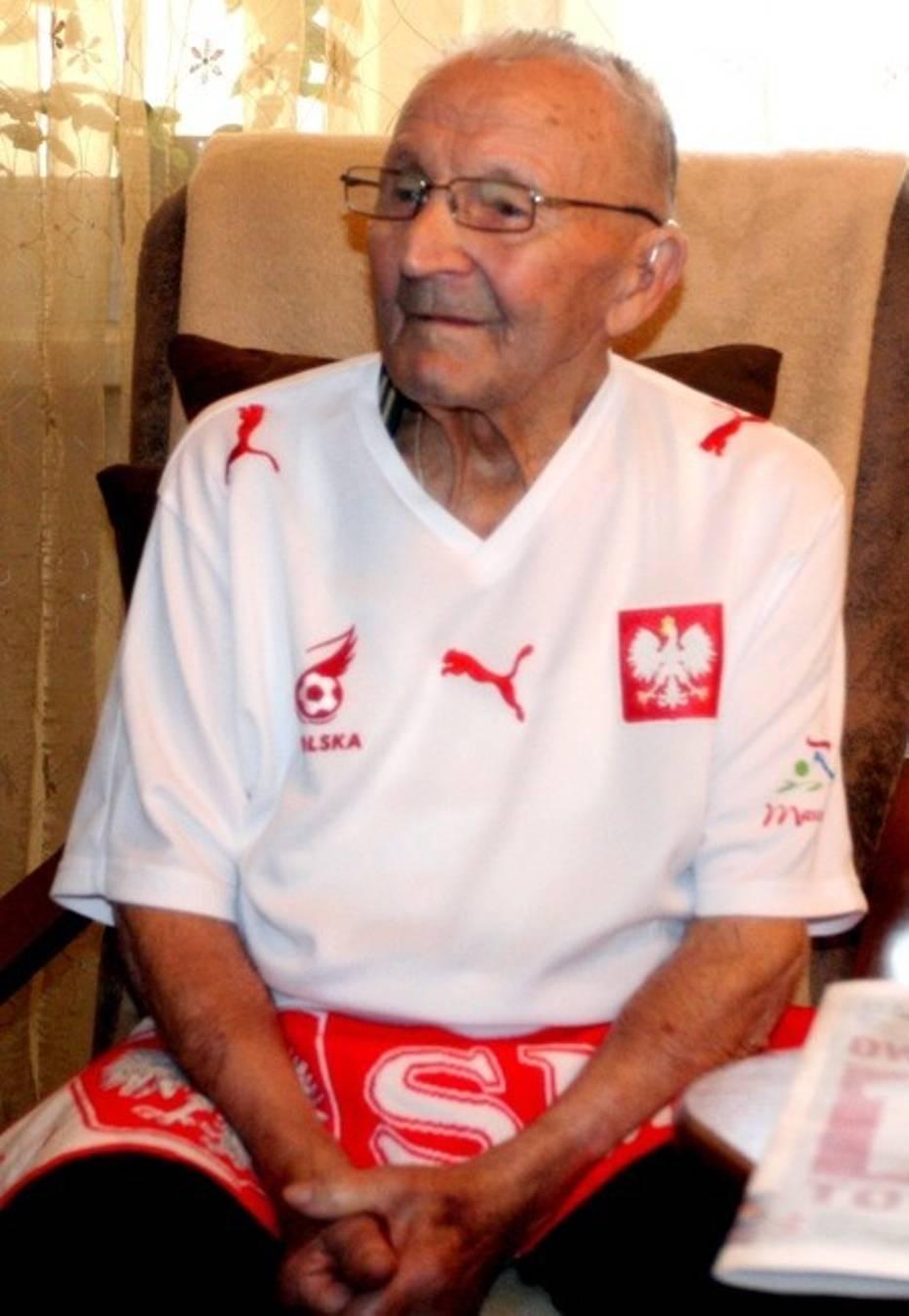 Jan Płachta był także zagorzałym kibicem reprezentacji Polski