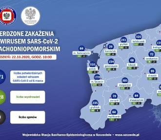 Dobowy rekord zarażeń koronawirusem w powiecie szczecineckim [mapa]