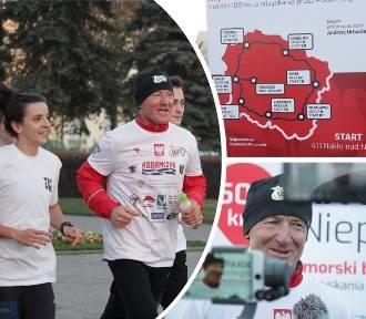 Kujawsko-Pomorski bieg ultramaratoński Andrzeja Urbaniaka z Bydgoszczy [zdjęcia]