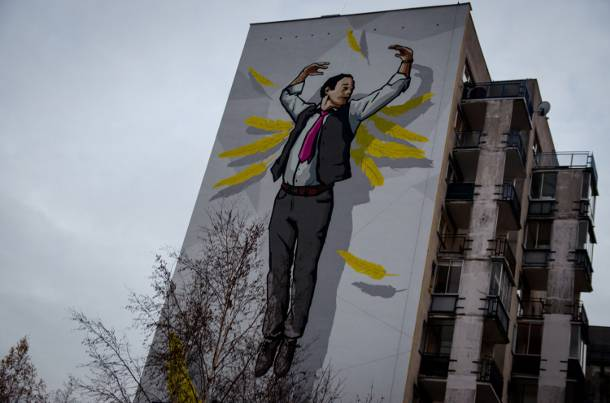 Ursyn w ma swojego anio a str a nowy mural z postaci ze for Mural ursynow