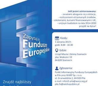Szamocin: Będą mówić o funduszach UE